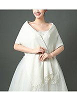 cheap -Half Sleeve Coats / Jackets / Capes Linen / Cotton Blend Wedding / Party / Evening Shawl & Wrap / Women's Wrap With Tassel