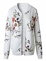 cheap -Ladies Winter Coats 2018 Sale Clearance Womens Ladies Retro Rivet Zipper Up Bomber Jacket Casual Coat Outwear (White, L)