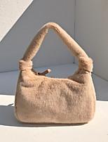 cheap -women plush comfy casual underarm bag handbag shoulder bag