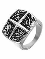 cheap -Men Stainless Steel Vintage Cross Gothic Bike Ring Size Y