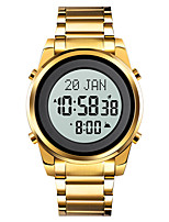 cheap -SKMEI Men's Sport Watch Digital Outdoor Calendar / date / day Chronograph Alarm Clock Digital Black Gold Silver / One Year / Stainless Steel