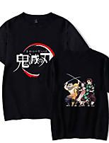 cheap -Inspired by Demon Slayer Kamado Nezuko Kamado Tanjirou Cosplay Costume T-shirt Microfiber Graphic Prints Printing T-shirt For Men's / Women's