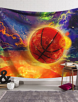 cheap -wall tapestry art decor blanket curtain hanging home bedroom living room decoration basketball color cloud polyester