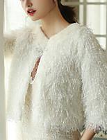 cheap -Half Sleeve Coats / Jackets / Shawls Faux Fur Wedding / Party / Evening Shawl & Wrap / Women's Wrap With Fur