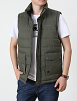 cheap -Men's Fishing Vest Work Vest Hiking Fleece Vest Autumn / Fall Winter Outdoor Thermal Warm Windproof Quick Dry Lightweight Vest / Gilet Jacket Top Hunting Fishing Climbing ArmyGreen Black khaki