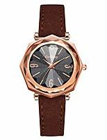 cheap -Gogoey Fashion Rhombus Convex Glass Leather Watches Women Ladies Quartz Watch
