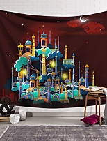 cheap -Wall Tapestry Art Decor Blanket Curtain Hanging Home Bedroom Living Room Decoration Polyester Muslim Castle
