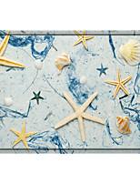 cheap -Starfish Print Memory Foam Bath Mat Non Slip Absorbent Bathroom Mat Super Soft Microfiber Bath Mat Set Super Cozy Velvety Bathroom Rug Carpet