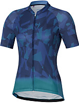 cheap -Women's Short Sleeve Cycling Jersey Blue Bike Top Mountain Bike MTB Road Bike Cycling Breathable Quick Dry Sports Clothing Apparel / Stretchy / Athleisure