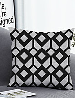 cheap -1 pcs Polyester Pillow Cover & Insert, Color Block Geometric Simple Classic Square Zipper Polyester Traditional Classic