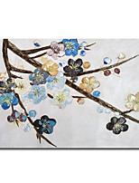 cheap -Mintura Hand Painted Abstract Tree Flowers Oil Painting on Canvas Modern Wall Picture Modern Art For Home Decoration Ready To Hang