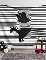 cheap -Wall Tapestry Art Decor Blanket Curtain Hanging Home Bedroom Living Room Decoration Naughty Black Cat