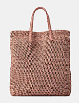 cheap -women travel summer beach large capacity straw handbag tote bag