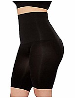 cheap -Houshelp Women's Sauna Slimming Pants Body Shaper Capris Leggings Waist Trainer Higher Power Shorts Thigh Slimmer Black