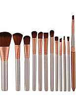 cheap -Makeup brushes Makeup Brush Set Tools Make-up Toiletry Kit Nylon Cosmetic Brush Eye Brush 12pcs (color : 12-piece)