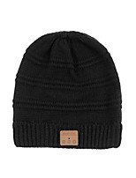 cheap -Men's Women's Hiking Cap 1 PCS Winter Outdoor Windproof Warm Soft Thick Skull Cap Beanie Solid Color Orlon Black Grey for Climbing Beach Camping / Hiking / Caving