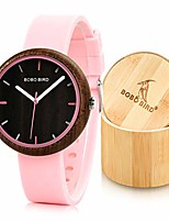 cheap -Women's 41MM Simple Luxury Wooden Watches, Analog Quartz Wristwatches with Silicone Strap Sports Casual Watches with Wood Gift Box