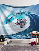 cheap -Wall Tapestry Art Decor Blanket Curtain Hanging Home Bedroom Living Room Decoration Polyester Surf Bear Fish