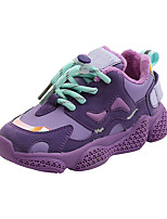 cheap -Boys' Girls' Trainers Athletic Shoes Comfort PU Little Kids(4-7ys) Big Kids(7years +) Daily Walking Shoes Black Purple Beige Spring Fall