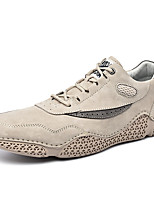 cheap -Men's Sneakers Casual British Daily Office & Career Suede Gray Beige Fall Spring