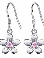 cheap -Silver Stud Earring made with Crystal for Girls and Women (Peach Blossom)