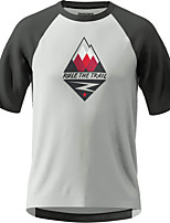 cheap -Men's Short Sleeve Downhill Jersey White Bike Top Mountain Bike MTB Road Bike Cycling Breathable Sports Clothing Apparel / Stretchy / Athletic