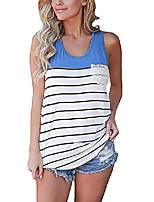 cheap -Women Summer Vest Top Sleeveless Blouse Casual Tank Top T-Shirt(L, Blue)