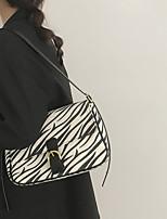 cheap -Women's Bags Canvas Crossbody Bag Buttons Leopard Print Printing 2021 Daily Going out Black / White White Black Khaki