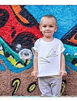 cheap -Kids Daddy'slittlegirl Boys' Active Basic Graphic Print Short Sleeve Tee White