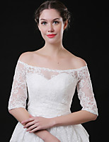 cheap -Half Sleeve Coats / Jackets / Shawls Tulle Wedding / Party / Evening Shawl & Wrap / Women's Wrap With Lace