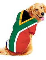 cheap -Dog Hoodie Sweatshirt Print Flag National Flag Fashion Cool Funny Casual / Daily Outdoor Dog Clothes Puppy Clothes Dog Outfits Breathable Green Costume for Girl and Boy Dog Polyster S M L XL