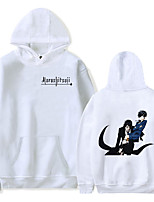 cheap -Inspired by Black Butler Sebastian Michaelis Cosplay Costume Hoodie Polyester / Cotton Blend Graphic Prints Printing Hoodie For Men's / Women's