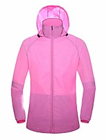 cheap -Men's Hiking Skin Jacket Skin Coat Hiking Windbreaker Jacket Top Outdoor Lightweight Windproof Breathable Quick Dry Autumn / Fall Spring Pink Scarlet Tian Lan Fishing Climbing Camping / Hiking