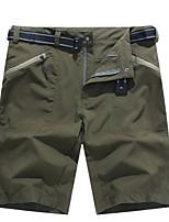 cheap -Men's Hiking Shorts Solid Color Summer Outdoor Breathable Quick Dry Ultra Light (UL) Nylon Shorts Black Army Green Grey Hunting Fishing Climbing M L XL XXL XXXL