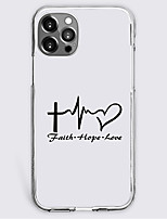 cheap -ecg pattern heart instagram style fashion case for apple iphone 12 iphone 11 iphone 12 pro max unique design protective case shockproof back cover tpu