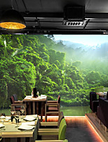 cheap -Forest Landscape Wallpaper Self-Adhesive Removable Peel and Stick Wallpaper Decorative Wall Covering for Wall Surface Cover Easy to Apply