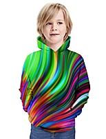 cheap -Kids Boys' Hoodie & Sweatshirt Graphic 3D Print Long Sleeve Active Rainbow