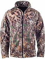 cheap -Men's Hiking Fleece Jacket Winter Outdoor Waterproof Lightweight Windproof Breathable Jacket Top Fleece Fishing Climbing Camping / Hiking / Caving ArmyGreen CP camouflage Black python pattern Night