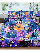 cheap -Dream Flower 3-Piece Duvet Cover Set Hotel Bedding Sets Comforter Cover with Soft Lightweight Microfiber, Include 1 Duvet Cover, 2 Pillowcases for Double/Queen/King(1 Pillowcase for Twin/Single)