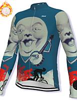 cheap -21Grams Men's Long Sleeve Cycling Jacket Winter Fleece Spandex Dark Blue Bike Jacket Mountain Bike MTB Road Bike Cycling Fleece Lining Warm Sports Clothing Apparel / Stretchy / Athleisure