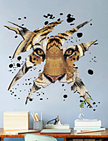 cheap -3d tiger head children room bedroom living room background decoration can be removed wall paste