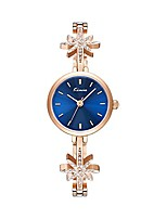 cheap -Luxury Zirconia Snowflake Band Bangle Quartz Watch for Women Laday Rose Gold Watch