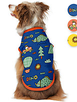 cheap -Dog Shirt / T-Shirt Christmas Tree Cartoon Funny Cute Casual / Daily Dog Clothes Puppy Clothes Dog Outfits Breathable Yellow Blue Orange Costume for Girl and Boy Dog Polyster S M L XL