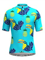 cheap -Men's Short Sleeve Cycling Jersey Blue Bird Fruit Bike Top Mountain Bike MTB Road Bike Cycling Breathable Sports Clothing Apparel / Stretchy / Athletic