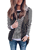 cheap -womens lightweight jackets vests zipper waistcoat quilted gilet coat outwear vest black l