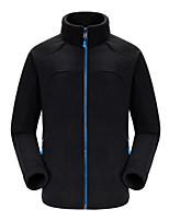cheap -Men's Hiking Fleece Jacket Winter Outdoor Patchwork Lightweight Windproof Fleece Lining Breathable Jacket Top Fleece Fishing Climbing Camping / Hiking / Caving Black Green Royal Blue / Warm