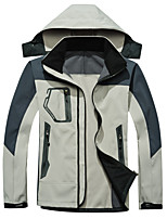 cheap -Men's Hoodie Jacket Hiking Softshell Jacket Hiking Windbreaker Outdoor Lightweight Windproof Breathable Quick Dry Jacket Top Fishing Climbing Camping / Hiking / Caving Black Blue Red Green off-white