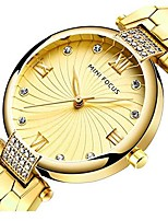 cheap -Fashion Women Quartz Stainless Steel Sports Dress Ladies Watch Luxury Diamond Wrist Watch for Female (Gold)