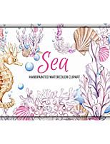 cheap -Seahorse Print Memory Foam Bath Mat Non Slip Absorbent Bathroom Mat Super Soft Microfiber Bath Mat Set Super Cozy Velvety Bathroom Rug Carpet