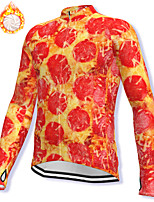 cheap -21Grams Men's Long Sleeve Cycling Jacket Winter Fleece Spandex Red Bike Jacket Mountain Bike MTB Road Bike Cycling Fleece Lining Warm Sports Clothing Apparel / Stretchy / Athleisure